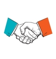Symbol of cooperation friendship partnership vector image