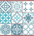 tile seamless azlejos pattern vector image vector image