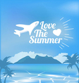 Tropical Summer Beach Background vector image