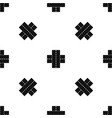 two roads pattern seamless black vector image vector image