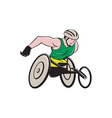 Wheelchair Racer Racing Isolated vector image