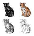 young tigeranimals single icon in cartoon style vector image