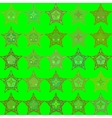 Abstract green seamless patterns vector image