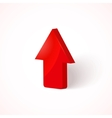 red upload arrow vector image
