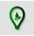 Light bulb eco concept vector image