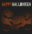 happy halloween holiday logotype pumpkins and vector image