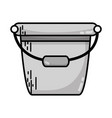 grayscale pail plastic object to clean house vector image
