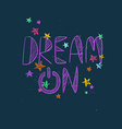 Hand drawn Creative Typography Poster vector image