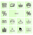 14 sale icons vector image vector image