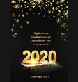 2020 new year background holiday label with vector image vector image