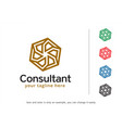 abstract consultant logo template vector image