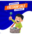 banner design of independence day sale vector image
