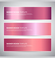 banners rose gold or shiny pink gradient vector image vector image