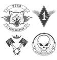 biker logo vector image vector image