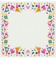 Birthday decorative border vector image vector image