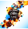 Bright coffee background with flare effect vector image vector image