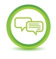 Chatting volumetric icon vector image vector image