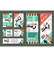 Colorful business stationary template vector image