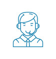 communication via skype linear icon concept vector image