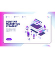 content marketing video blog strategy vector image vector image
