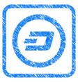 dash rounded framed stamp vector image vector image