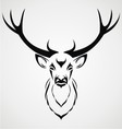 Deer Head Tribal vector image vector image