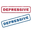 Depressive Rubber Stamps vector image vector image