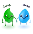 Drop and leaf vector image