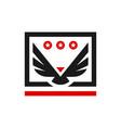 eagle bird animal shield logo vector image