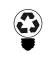 ecology energy saving light bulbgreen cities help vector image vector image
