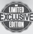 Exclusive limited edition retro label vector image