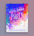 festa junina party flyer template design vector image vector image