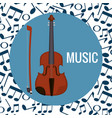 fiddle musical instrument icon vector image vector image