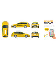 flat high quality city service transport icon set vector image vector image