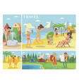 flat summer vacation composition vector image vector image