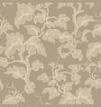 floral seamless pattern flower background floral vector image