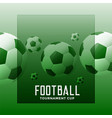 football tournament green background with text vector image vector image