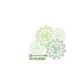 gearwheel and cog wheel icon vector image