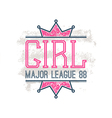 Girl sport emblem vector image