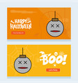 happy halloween invitation design with ball vector image