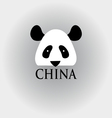 head panda sign vector image vector image