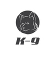 icon K-9 with dog vector image vector image