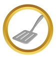 Kitchen spatula icon vector image