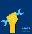 labour day greeting with nice and beautiful design vector image
