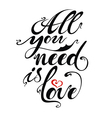 Love phrase vector image