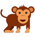 monkey in cartoon flat style vector image vector image