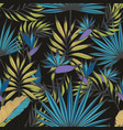night tropics seamless handmade pattern for vector image vector image