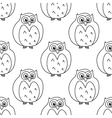 Outline owls retro seamless pattern vector image vector image
