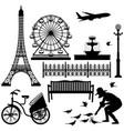 paris eiffel tower ferris wheel a scenario of a vector image