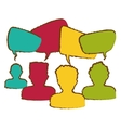 people and speech bubble icon vector image vector image